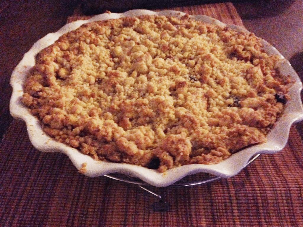 appelkruimeltaart met amandelspijs