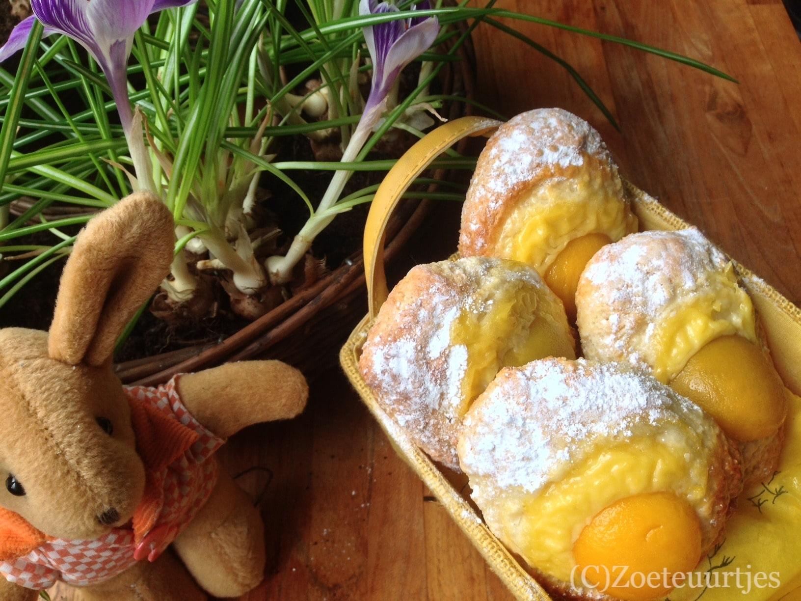 Zoete abrikozen eieren