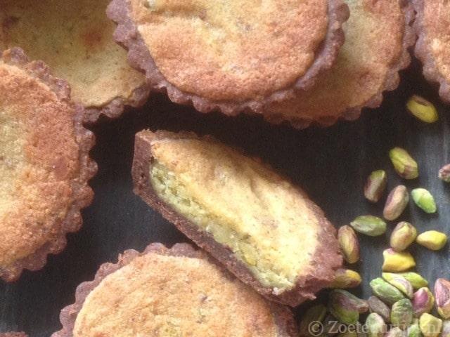 pistache amandel taartjes