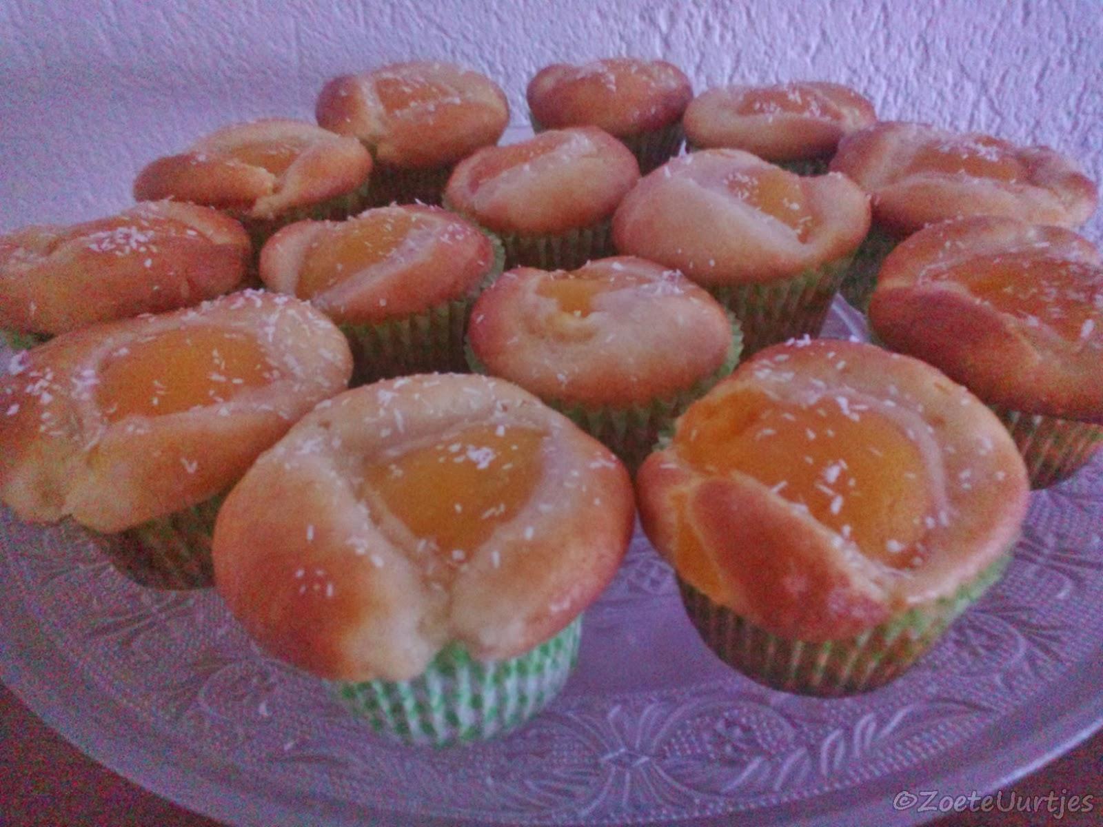 Yoghurt muffins met perzik