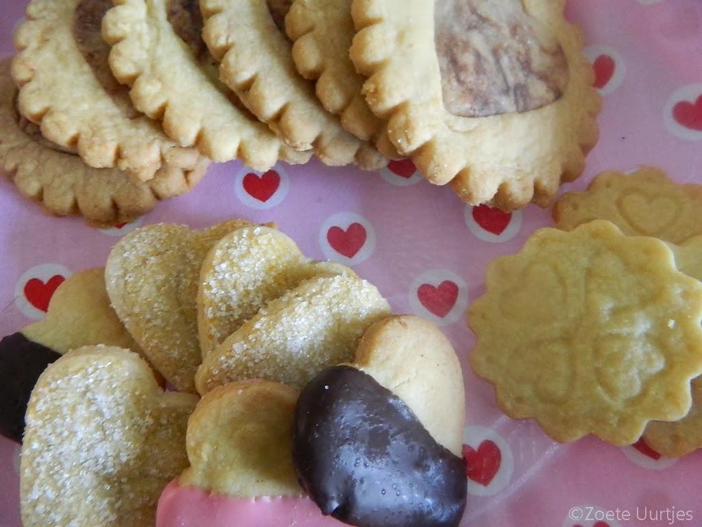Zandkoekjes voor Valentijnsdag