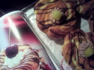 Soezenring met chocoladeroom