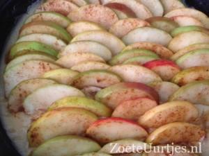 boterkoek met appels