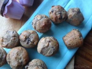 muffins met bosvruchten en appel