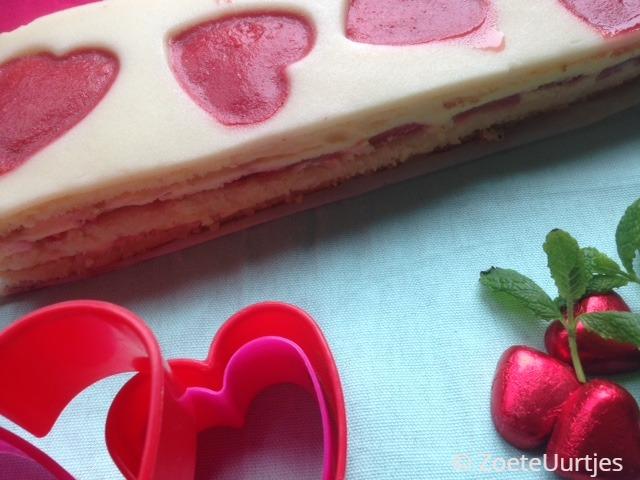 taart voor valentijnsdag