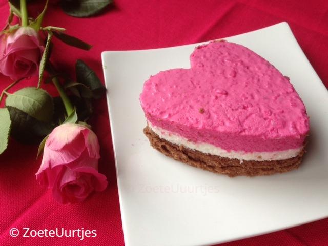 valentijnstaart met kwark en yoghurt