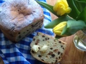 rozijnenbrood met noten en sinaasappel