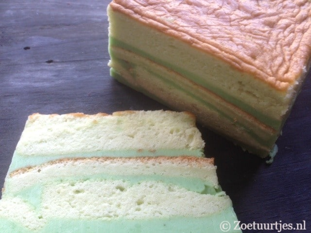 pandan sponge layer cake