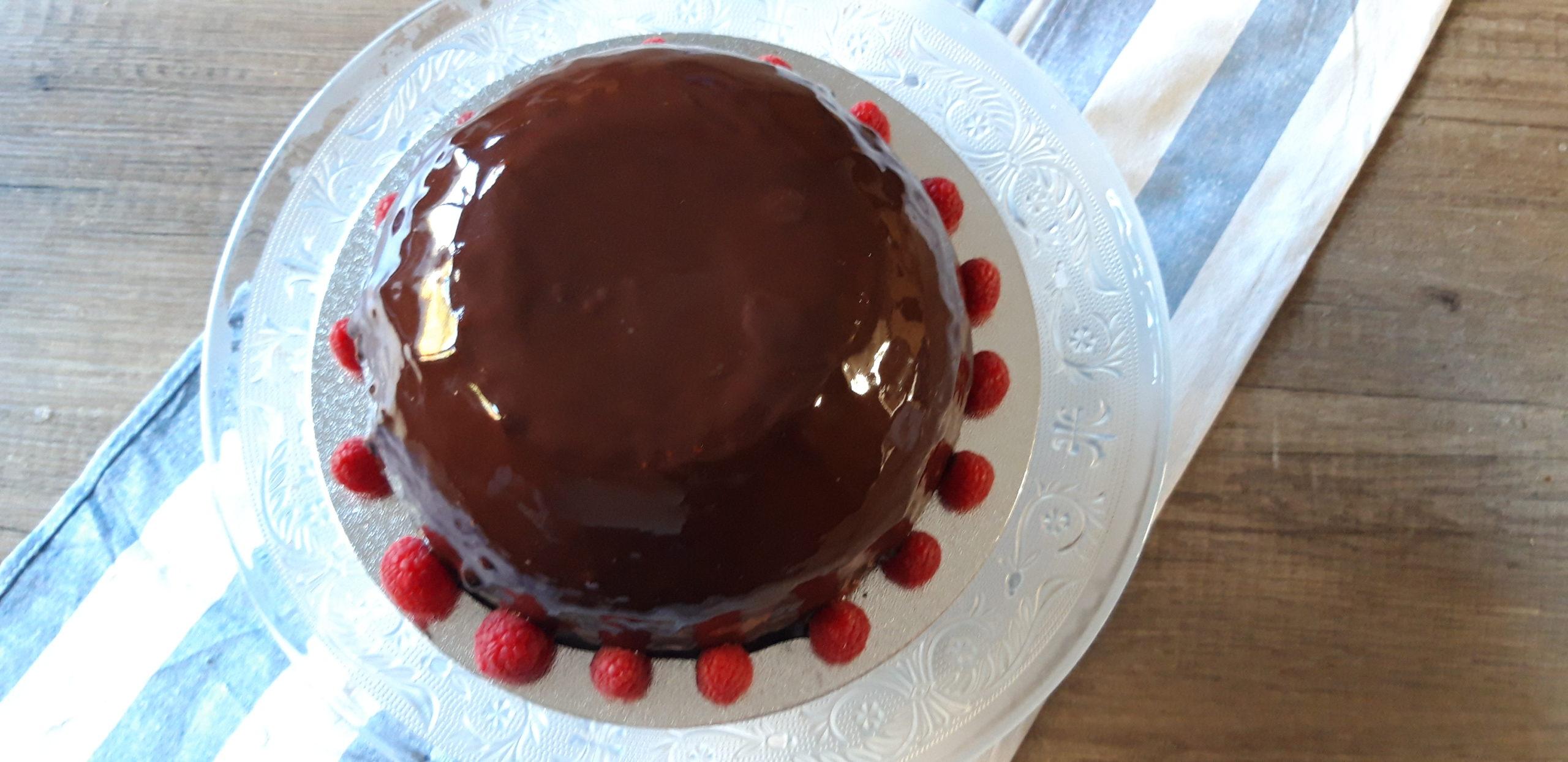 boltaartje met chocolademousse